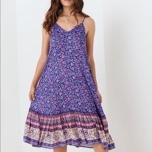 NWT SPELL DESIGNS DAHLIA STRAPPY DRESS